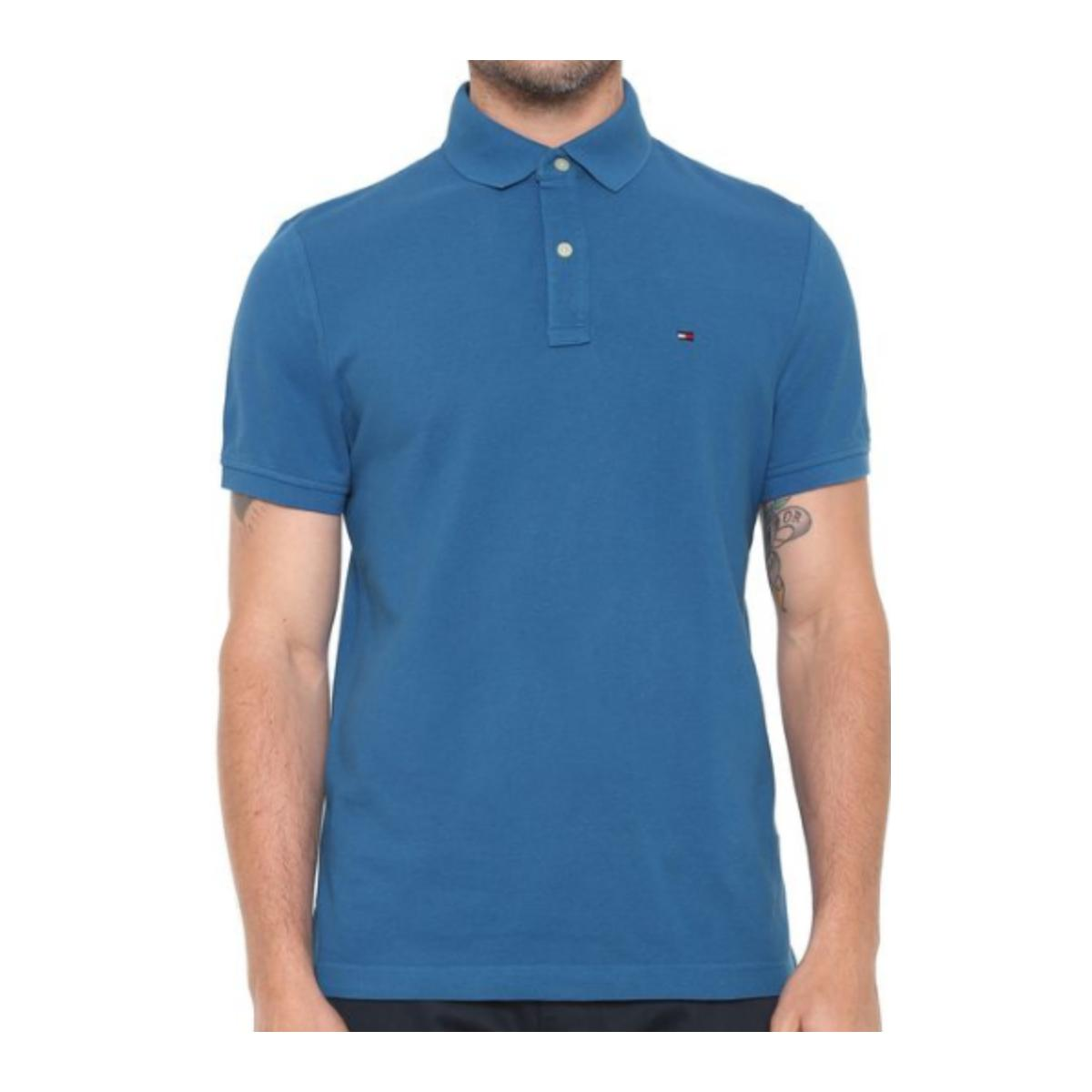 Camiseta Masculina Tommy Th78d1788 Azul