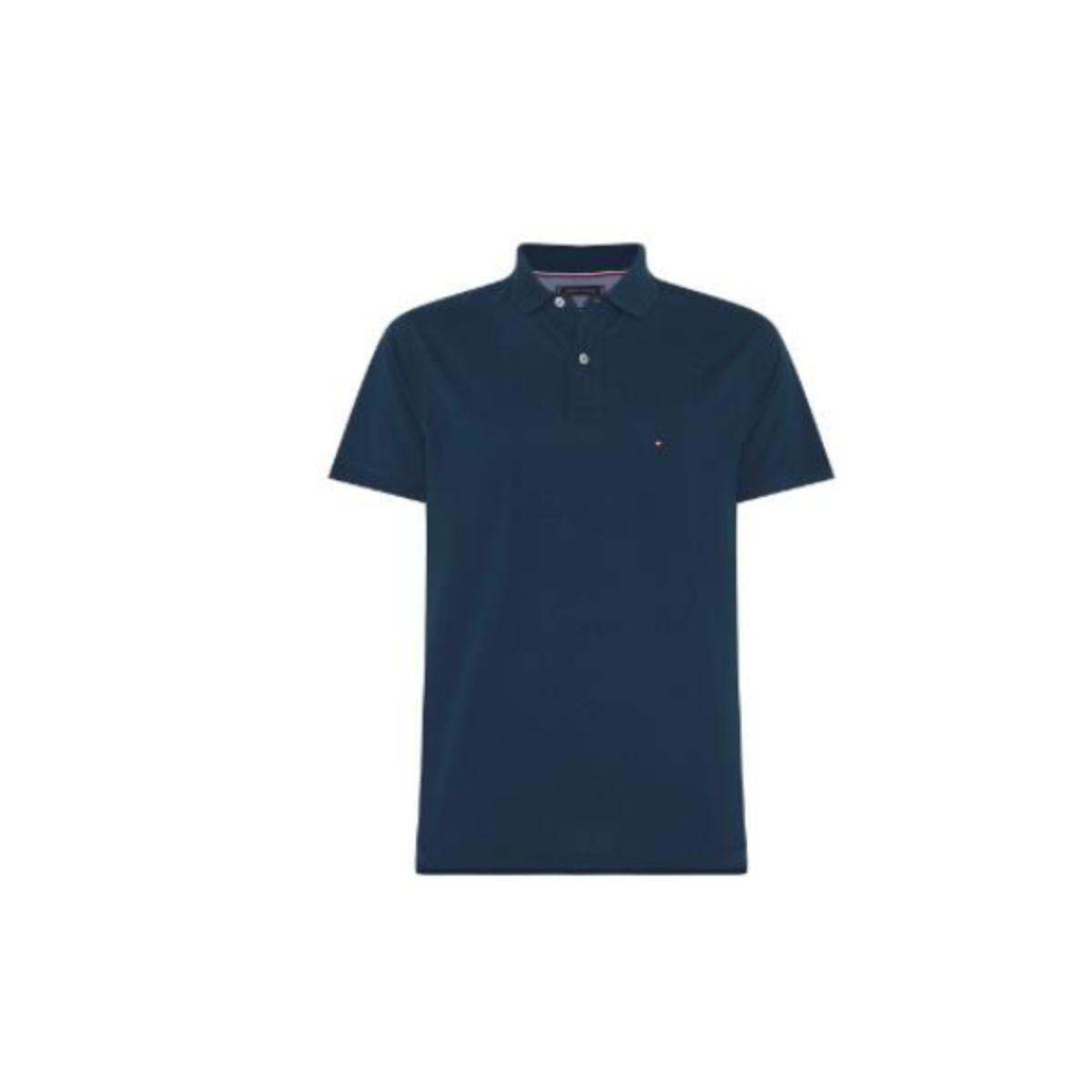 Camiseta Masculina Tommy Thmw0mw10765 Thc74 Petróleo