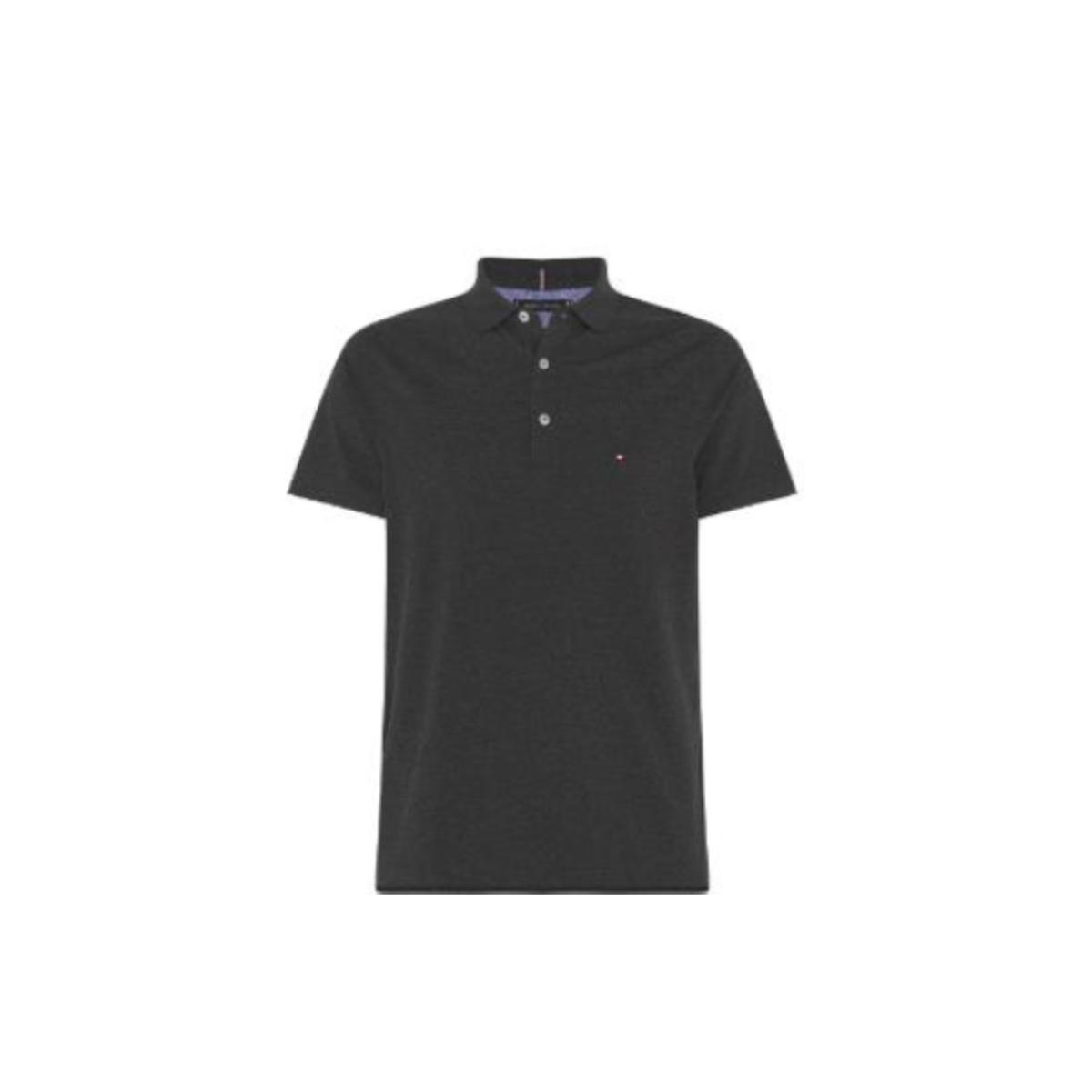 Camiseta Masculina Tommy Thmw0mw10765 Thpgz Cinza
