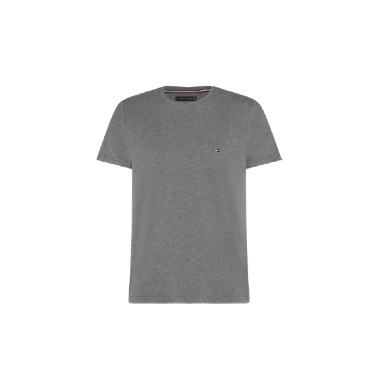 Camiseta Masculina Tommy Thmw0mw17002 Thpg5 Cinza