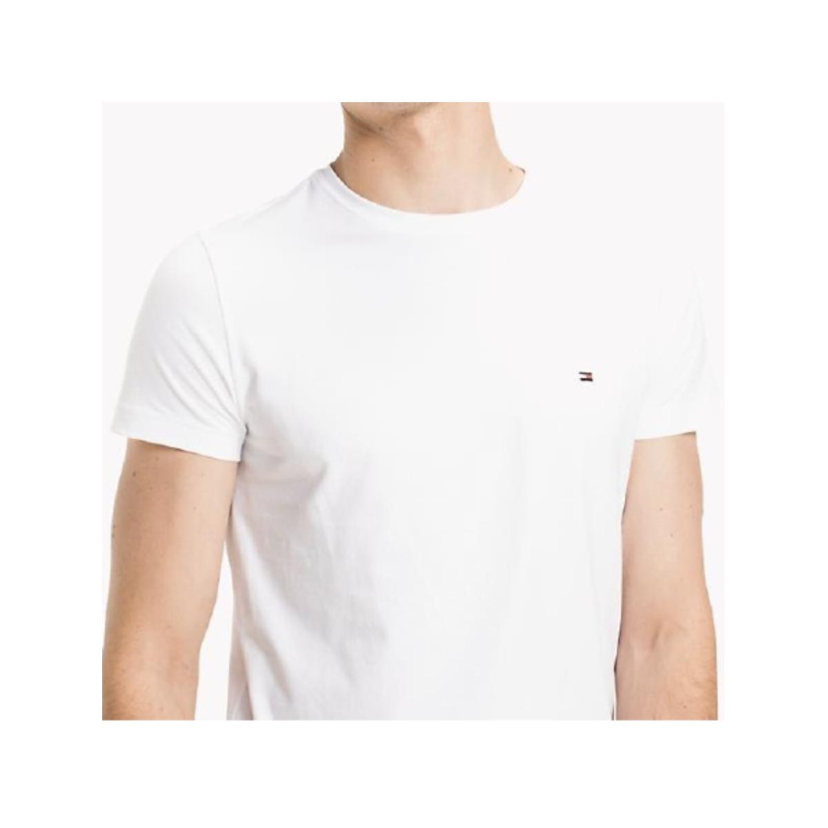 Camiseta Masculina Tommy Thmw0mw17002 Thybr Branco