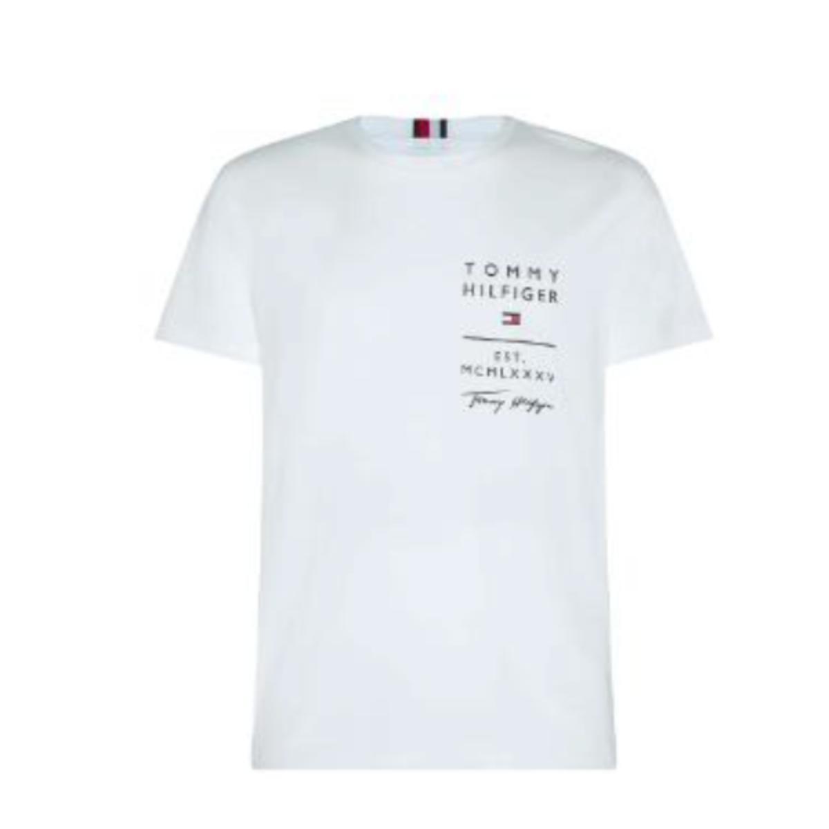 Camiseta Masculina Tommy Thmw0mw16988 Off White
