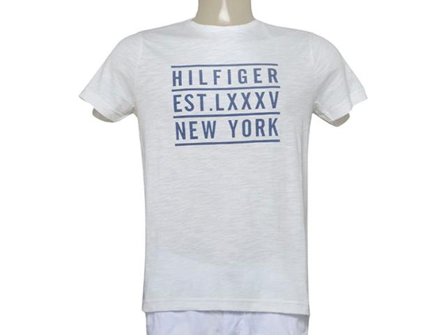 Camiseta Masculina Tommy Th0887894984 Branco