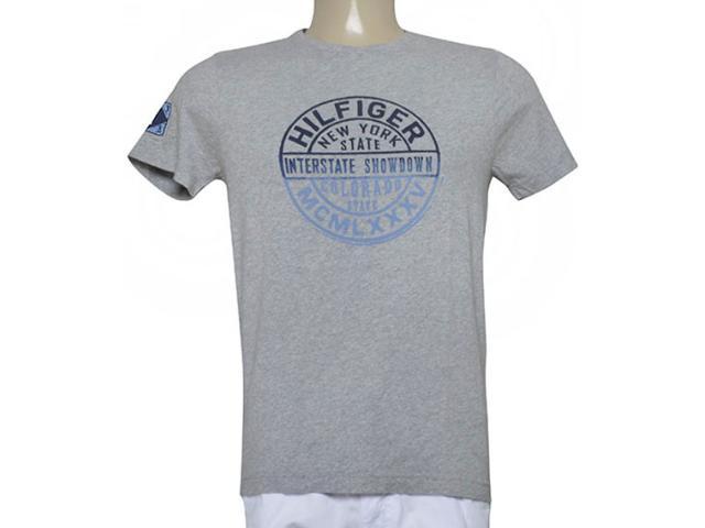 Camiseta Masculina Tommy Th0887872855 Cinza