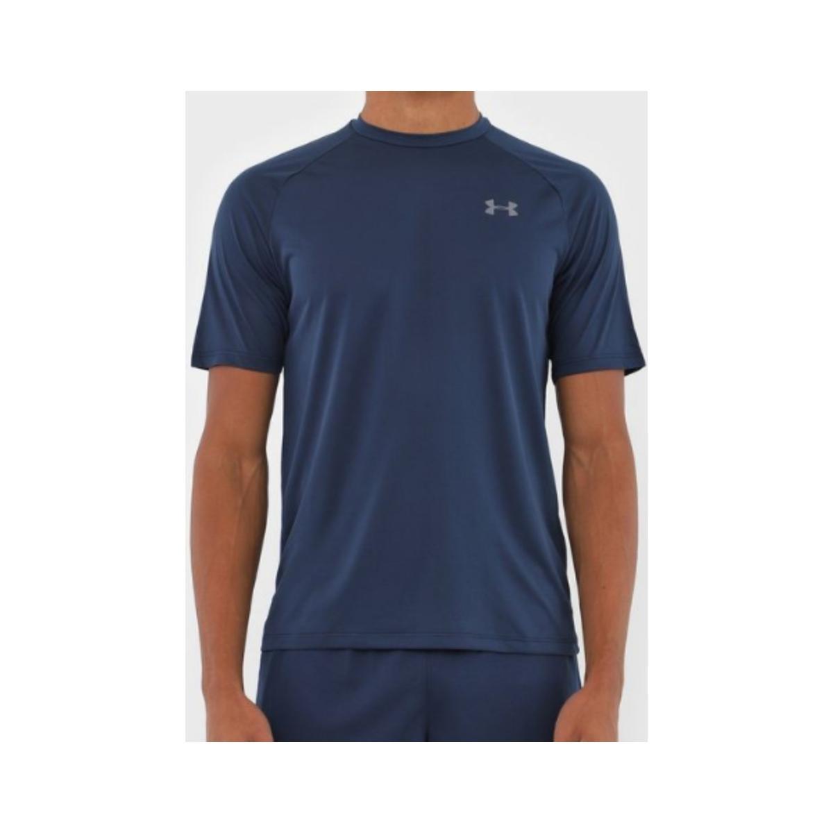 Camiseta Masculina Under Armour 1359378 Tech 2.0 Marinho