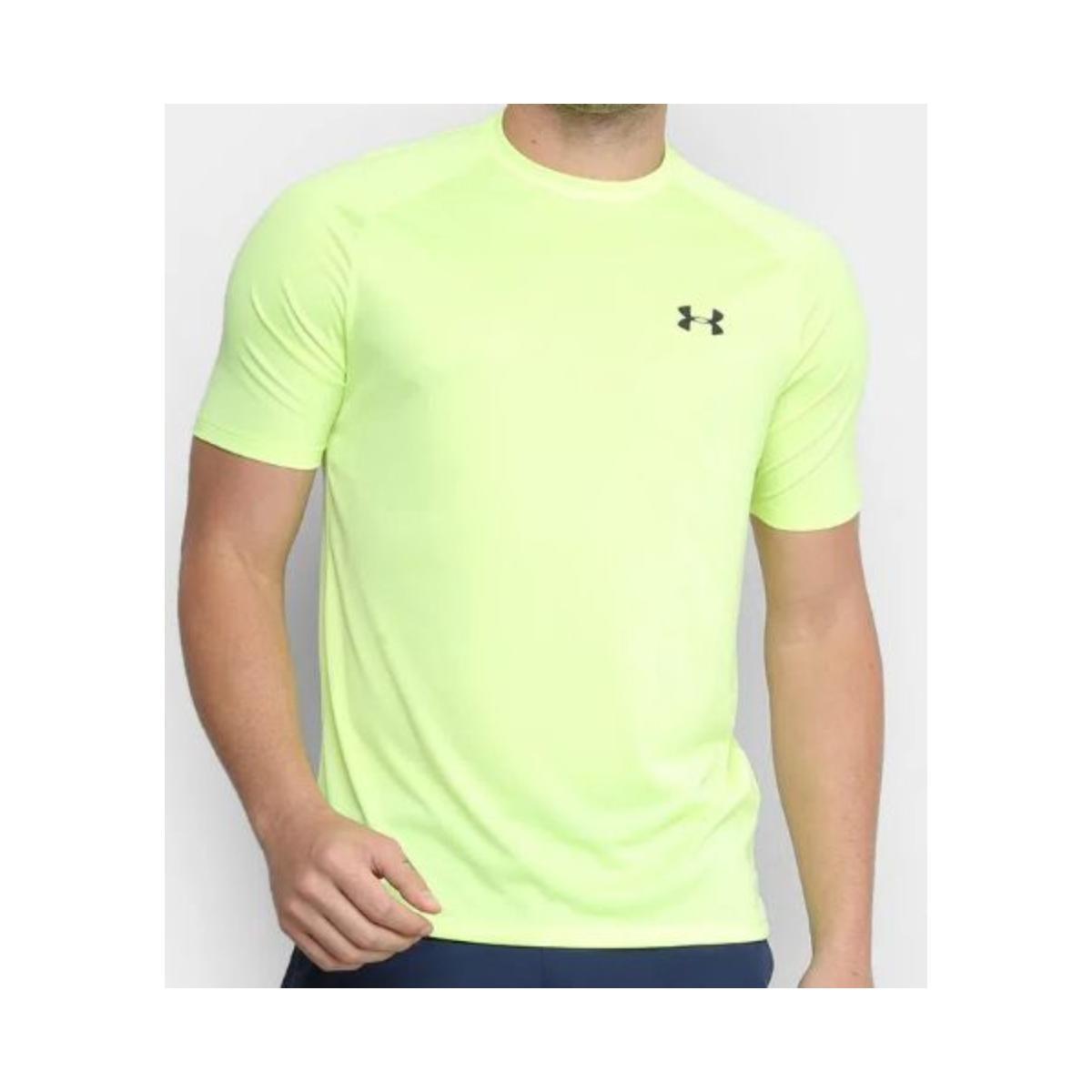 Camiseta Masculina Under Armour 1359378 Tech 2.0 Verde Neon