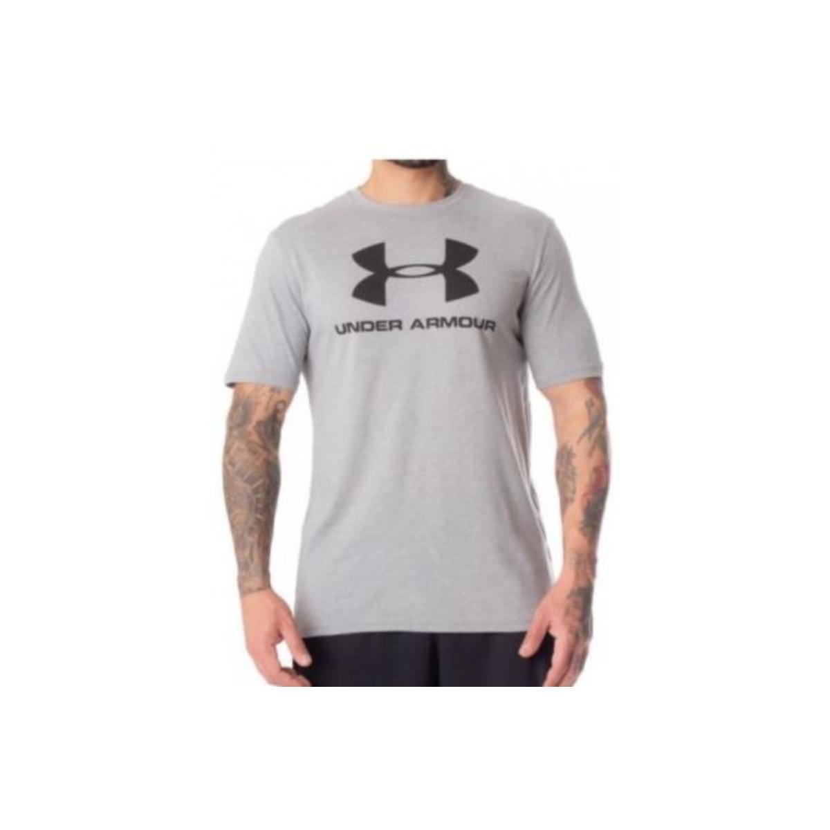 Camiseta Masculina Under Armour 1359394 Sportstyle Cinza