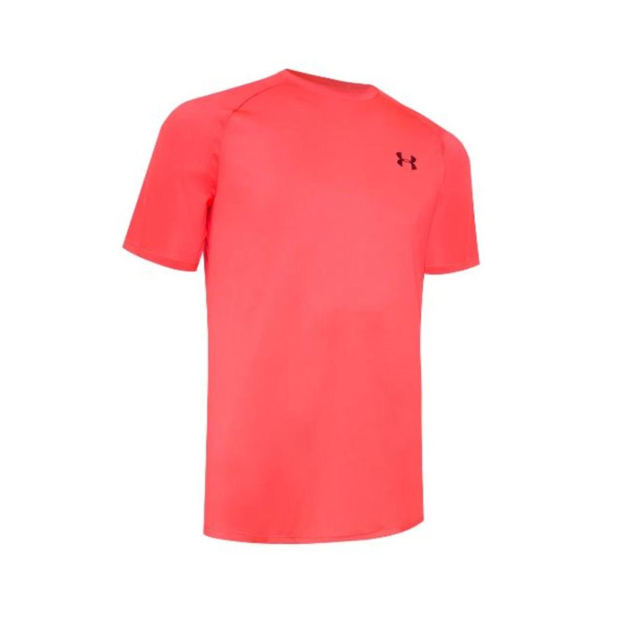 Camiseta Masculina Under Armour 1359378  Tech 2.0 Laranja Neon