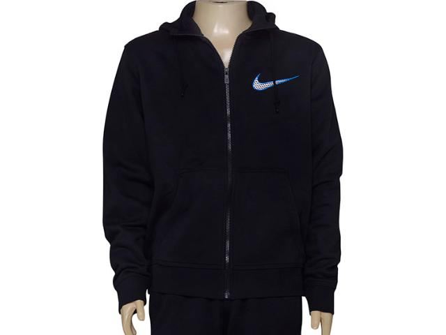 Casaco Masculino Nike 727757-010 Club Fleece Swoosh Full  Preto