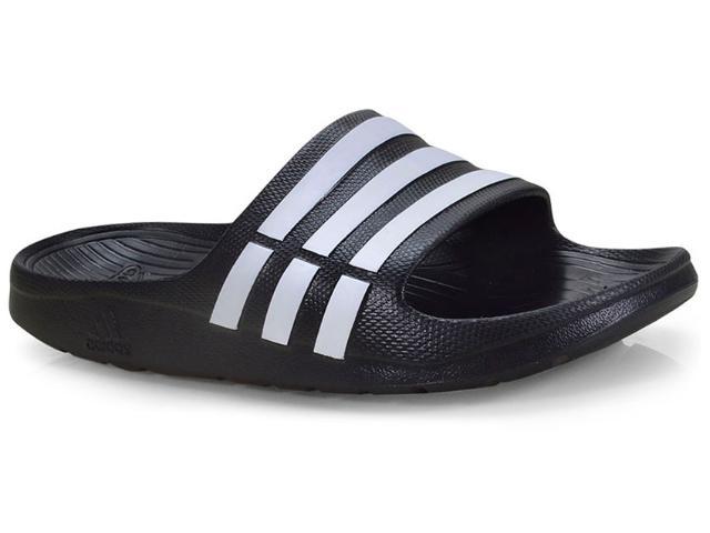 Chinelo Masculino Adidas G15890 Duramo Slide Preto/branco