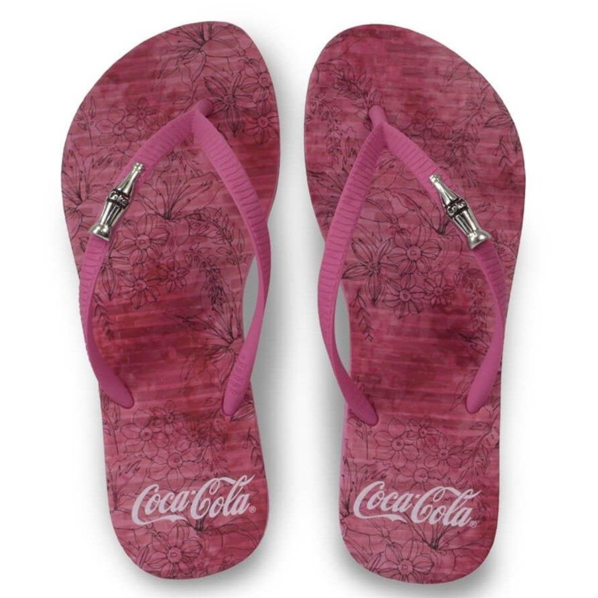 Chinelo Feminino Coca-cola Shoes Cc3145 Pink