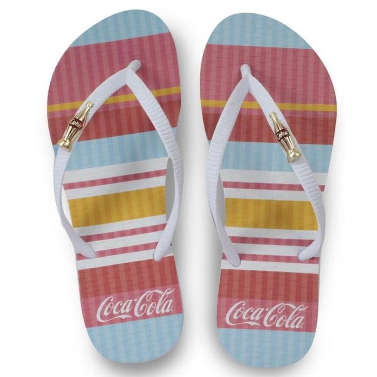 Chinelo Feminino Coca-cola Shoes Cc3134 Branco/color