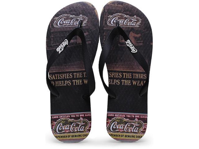 Chinelo Masculino Coca-cola Shoes Cc0254 Preto/café