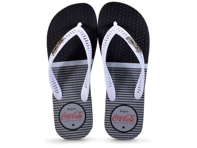 Chinelo Masculino Coca-cola Shoes Cc2334 Preto/branco