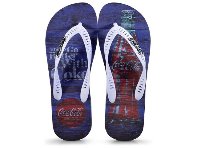 Chinelo Masculino Coca-cola Shoes Cc2271 Marinho/branco