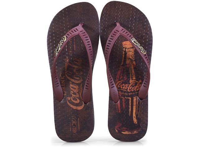 Chinelo Masculino Coca-cola Shoes Cc2573 Preto/bordo