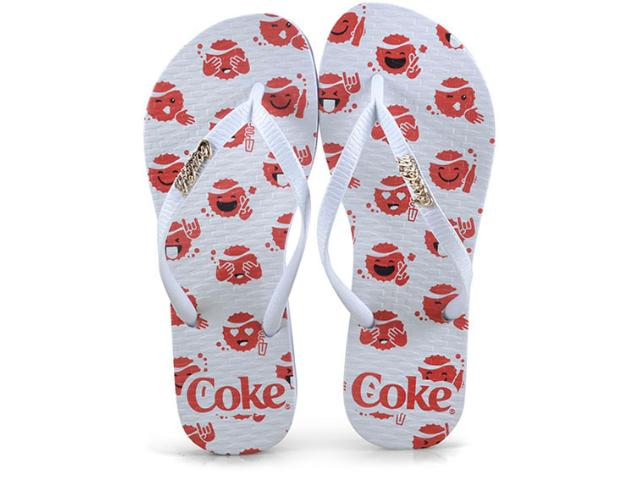 Chinelo Feminino Coca-cola Shoes Cc2518 Branco
