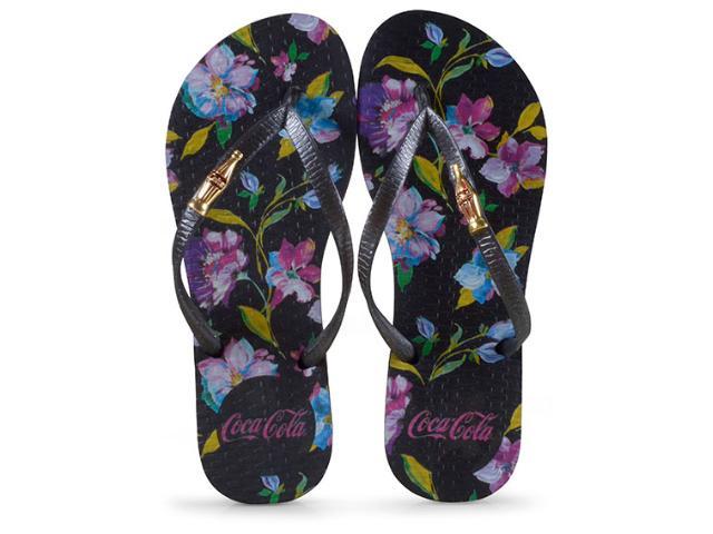 Chinelo Feminino Coca-cola Shoes Cc2574 Preto