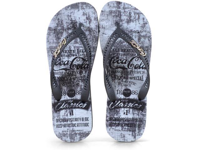 Chinelo Masculino Coca-cola Shoes Cc2524 Preto