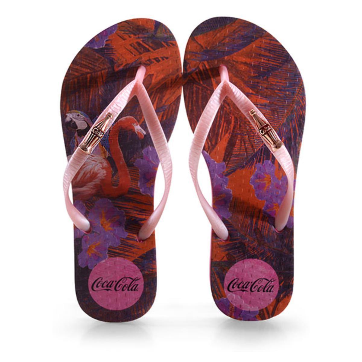 Chinelo Feminino Coca-cola Shoes Cc2991 Pink/rose