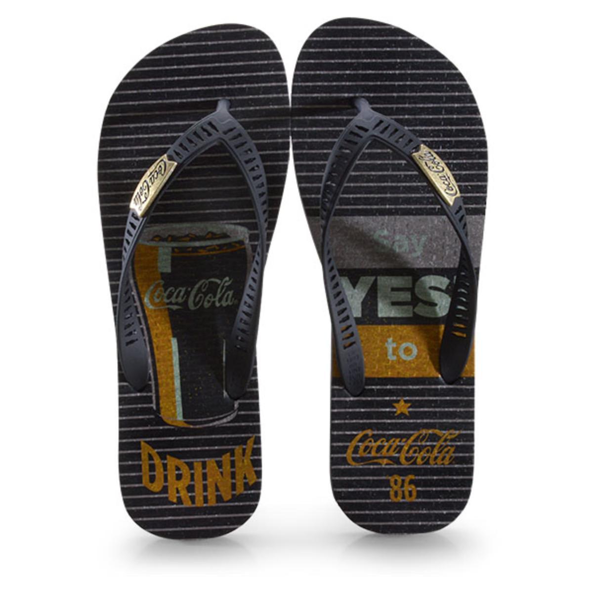 Chinelo Masculino Coca-cola Shoes Cc2881 Preto