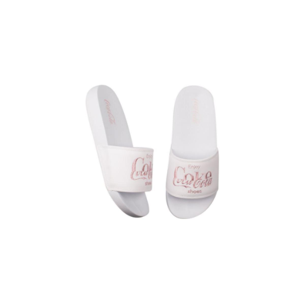 Chinelo Feminino Coca-cola Shoes Cc3158 Branco