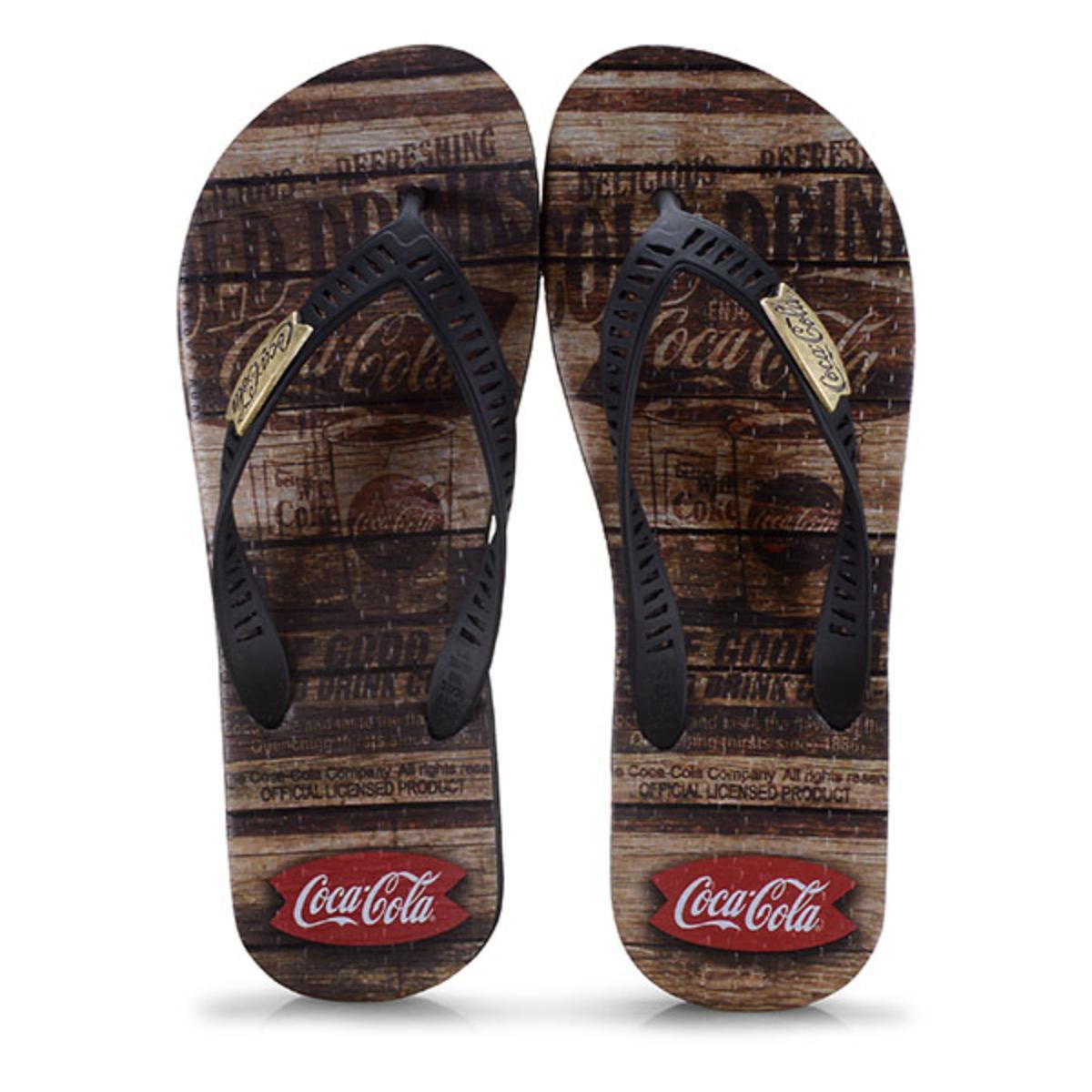 Chinelo Masculino Coca-cola Shoes Cc2680 Preto