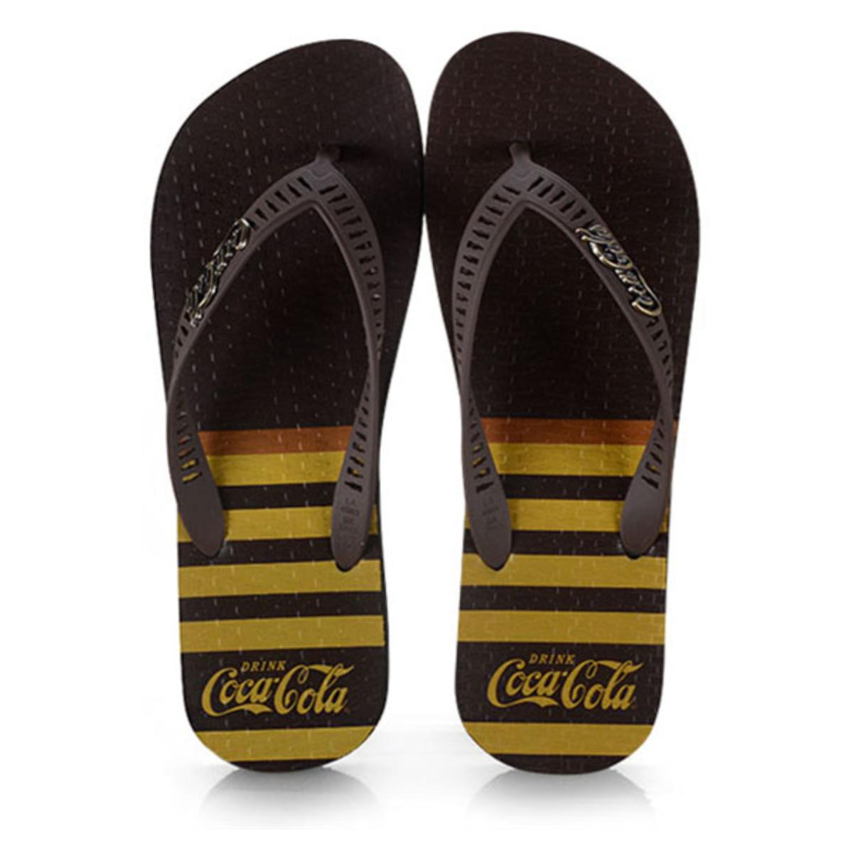 Chinelo Masculino Coca-cola Shoes Cc2769 Preto/marrom