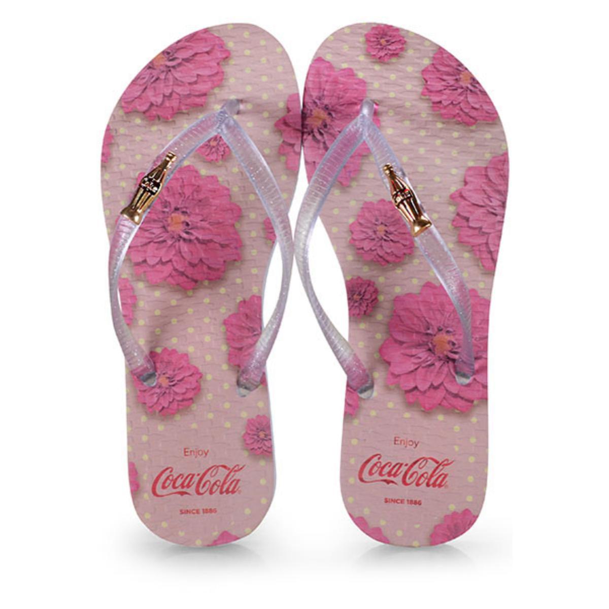 Chinelo Feminino Coca-cola Shoes Cc2672 Branco Cristal