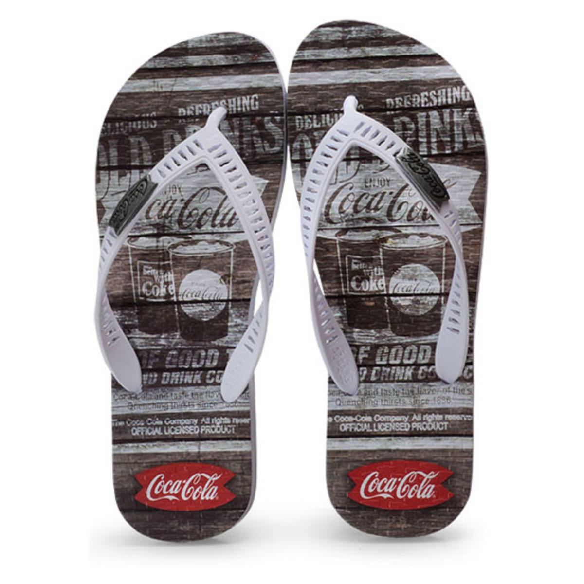 Chinelo Masculino Coca-cola Shoes Cc2680 Branco