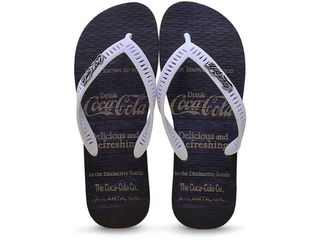 Chinelo Masculino Coca-cola Shoes Cc2180 Marinho/branco