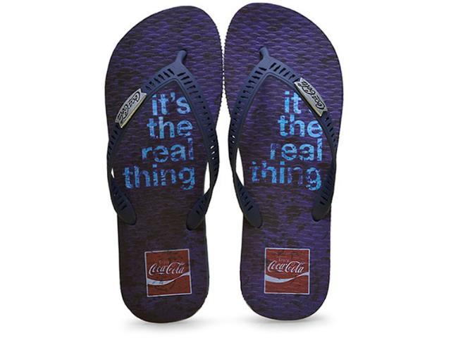 Chinelo Masculino Coca-cola Shoes Cc2246 Marinho