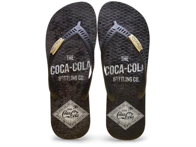 Chinelo Masculino Coca-cola Shoes Cc2275 Preto