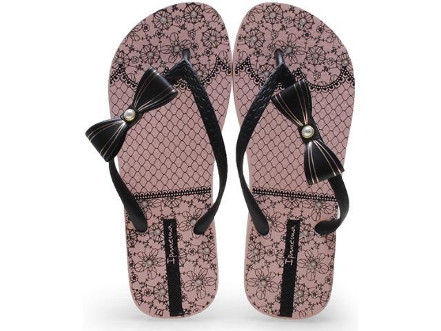Chinelo Feminino Grendene 25795 Ipanema Fashion Sweet Rosa/preto