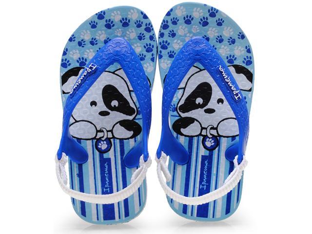Chinelo Masc Infantil Grendene 25431 Ipanema Baby Azul/branco