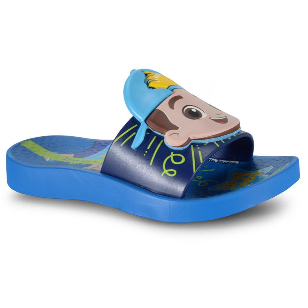 Chinelo Fem Infantil Grendene 26497 20729 Ipanema Luccas Neto Slide Azul