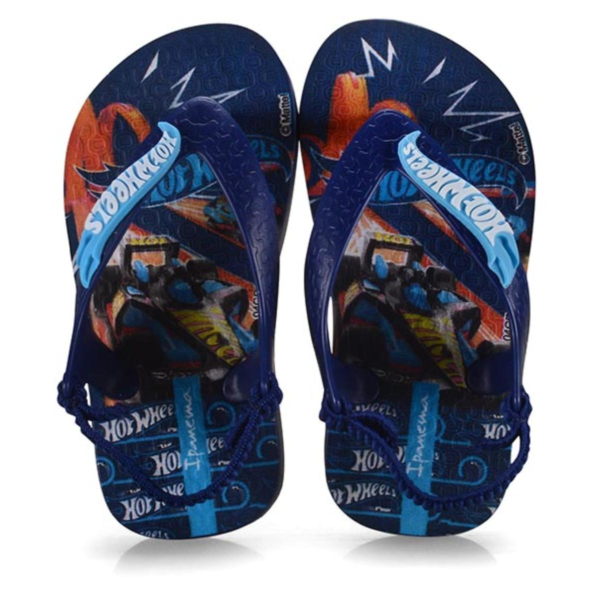 Chinelo Masc Infantil Grendene 26071 25037 Ipanema Hot Wheels Baby  Azul