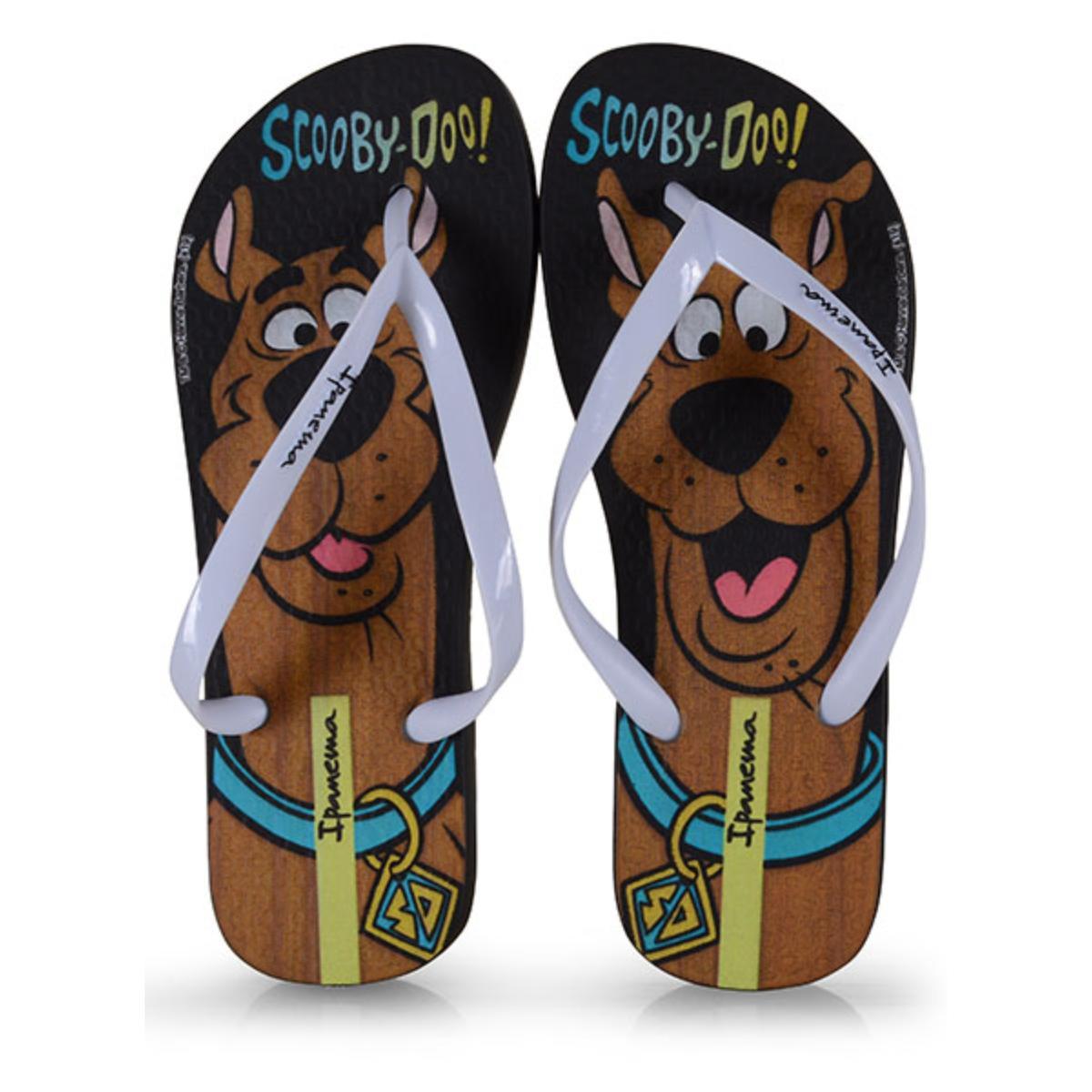 Chinelo Feminino Grendene 26458 21668 Ipanema Scooby Doo Preto/branco