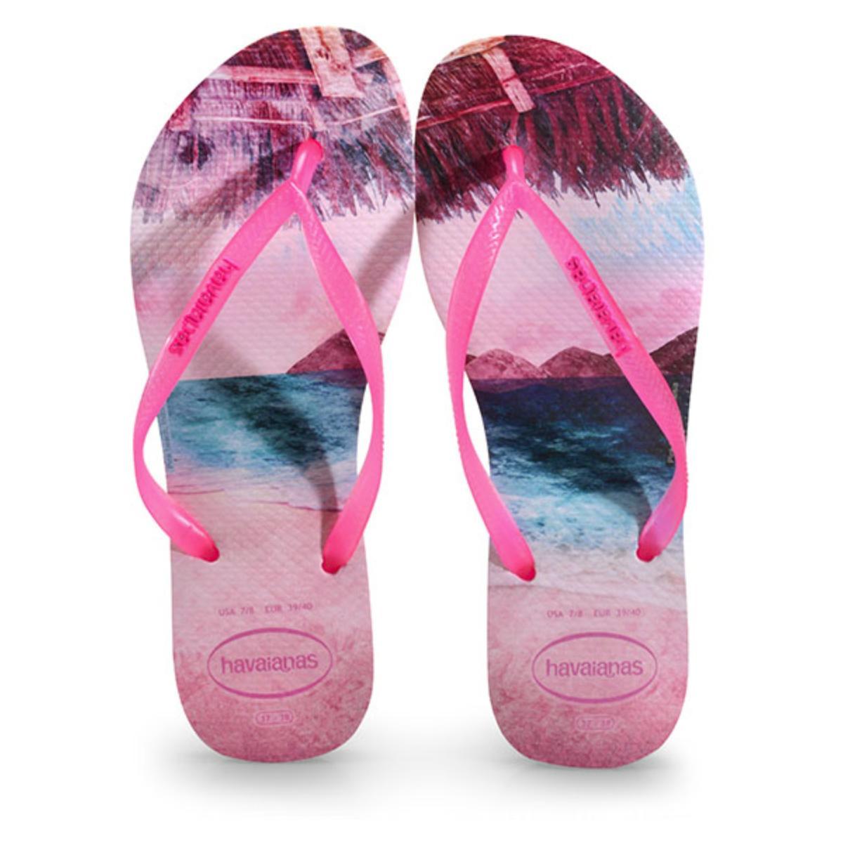 Chinelo Feminino Havaianas Slim Paisage Candy Pink