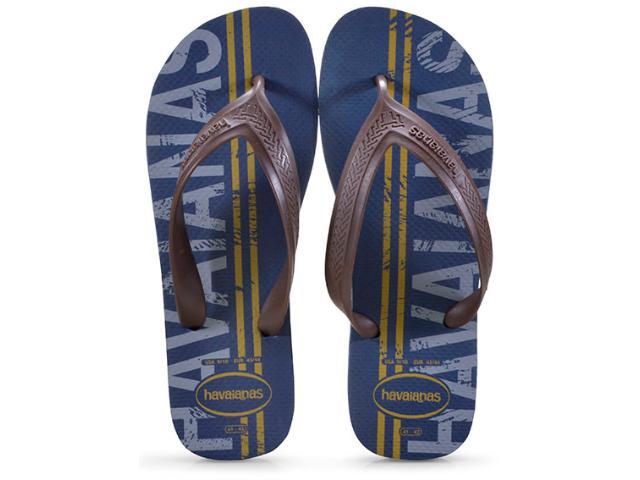 Chinelo Masculino Havaianas Top Max lg Mania Azul Indigo