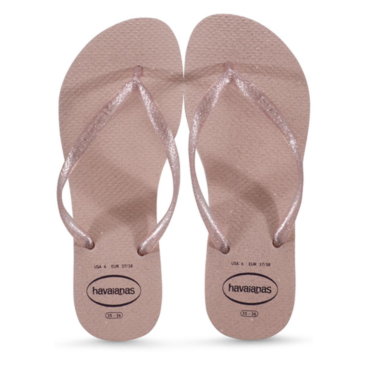 Chinelo Feminino Havaianas Slim Gloss fc Rosa Ballet