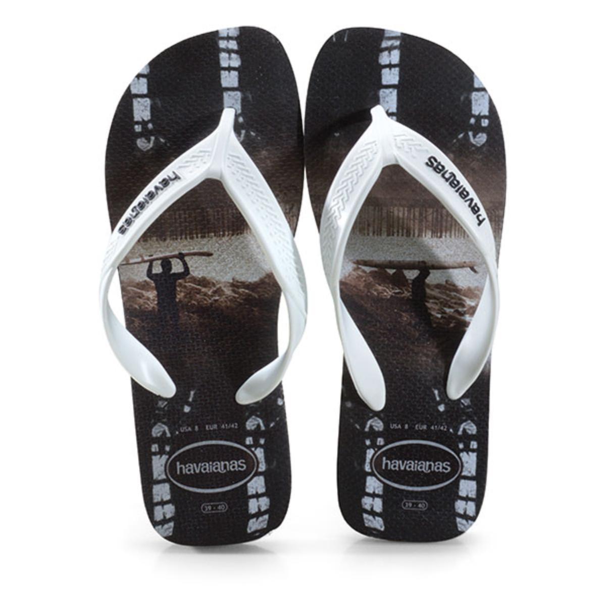 Chinelo Masculino Havaianas Surf Preto/branco/preto