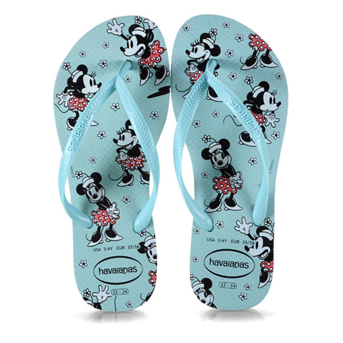 Chinelo Feminino Havaianas Slim Disney cf Ice Blue