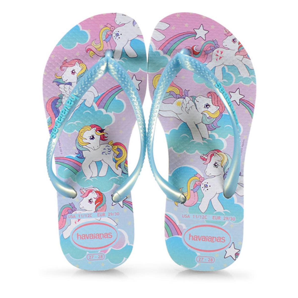 Chinelo Fem Infantil Havaianas Kids Slim my Little Pony Branco