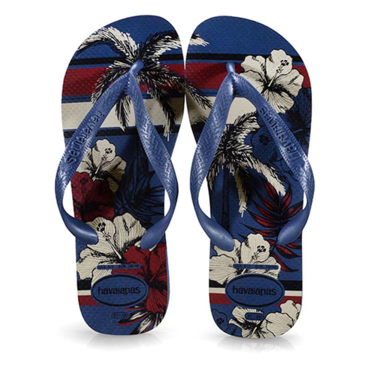 Chinelo Masculino Havaianas Aloha Azul Indigo