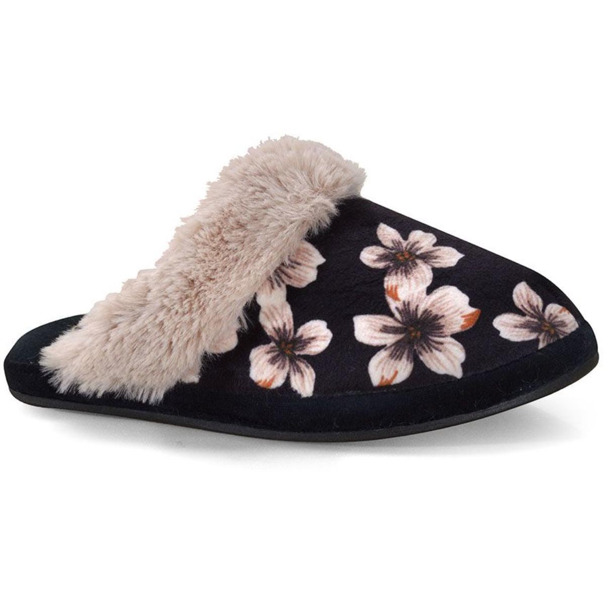 Chinelo Feminino Leffa 460 Floral Bege