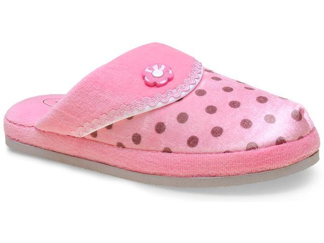 Chinelo Fem Infantil Leffa 510 Rosa Poa