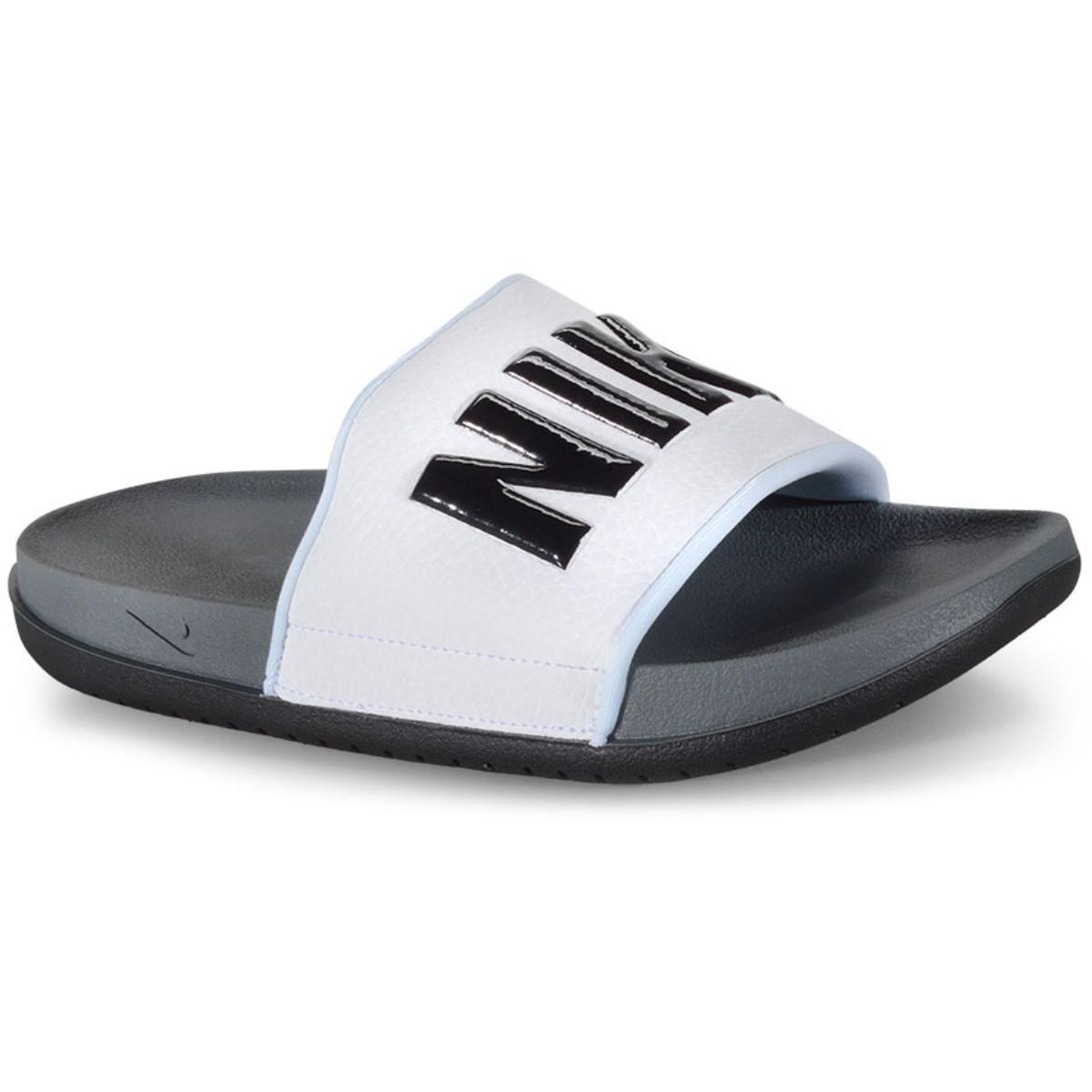 Chinelo Masculino Nike Bq4639-001 Offcourt Slide Branco/preto