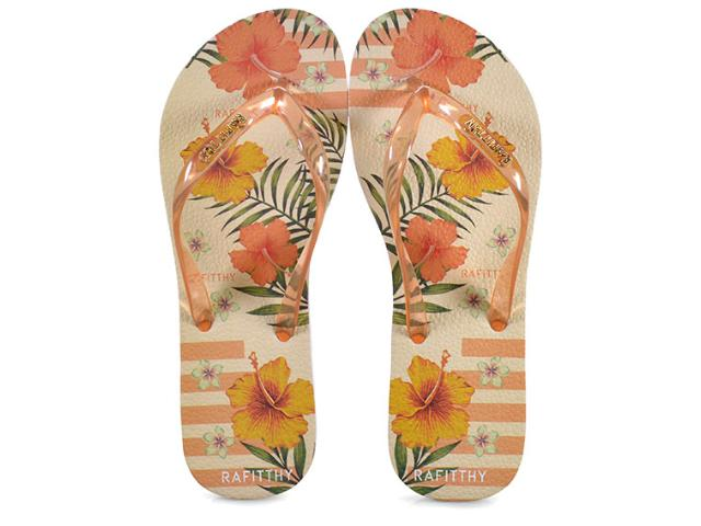 Chinelo Feminino 222.91701 Rafitthy Orange Tropical