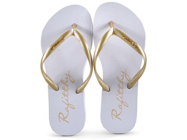 Chinelo Feminino Rafitthy 226.91701 Branco/dourado